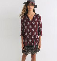 Robe+imprimée+avec+laine