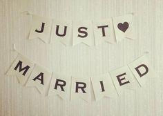 【結婚式DIY】JUST MARRIEDガーランドのデザインまとめ