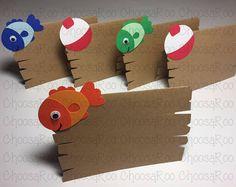 Fishing Party Fish & Bobber Handmade Tent Cards Set of 1st Birthday Boy Themes, Boy Birthday Parties, Birthday Fun, Birthday Ideas, Fish Fry Party, Gone Fishing Party, Bobber, Web Design, 1st Birthdays