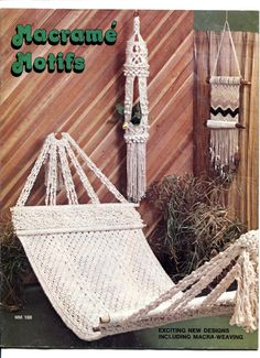 Hey, I found this really awesome Etsy listing at http://www.etsy.com/listing/154950365/macrame-patterns-motifs-macrame-hammock