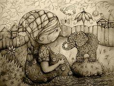 drawings -- inspire texture; contrast; design -- j