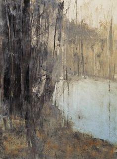 Bild Wald und See dunkel mit blau