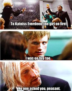 Peeta was on fire to!