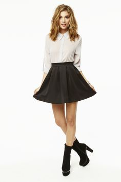 I love the skater skirt