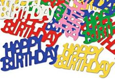 Foil Happy Birthday Confetti, 2015 Amazon Top Rated Banners, Streamers & Confetti #Toy