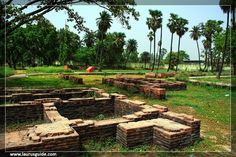 Kumhrar or Kumrahar is the remains of an ancient city of Pataliputra, located 5 km of east from Patna Railway Station, on Road, Patna, Bihar.  The archaeological remains of the Mauryan period (322–185 BCE), has been discovered here, this include the ruins of a hypostyle 80-pillared hall. The excavation finding here dates back to 600 BCE, and marks the ancient capital of Ajatshatru, Chandragupta and Ashoka, and collectively the relics range from four continuous periods from 600 BCE to 600 CE.