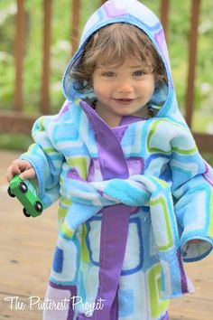 Reinventing the Beach Towel: Baby Beach Robe from The Pinterest Project | Featured on Gooseberry Patch