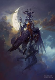 """victoriousvocabulary: """" LYCHNOBITE [noun] one who labors at night and sleeps in the day. Etymology: Greek lychnos - a lamp + bios - life. [Pete Mohrbacher - Leliel, Angel of Night] """""""