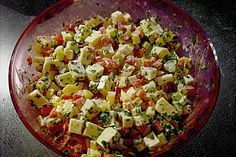Paprika - Gouda - Salat (Rezept mit Bild) von mrsxxxpianofiles | Chefkoch.de