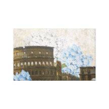 Ancient Rome Blue Hydrangea Art Canvas