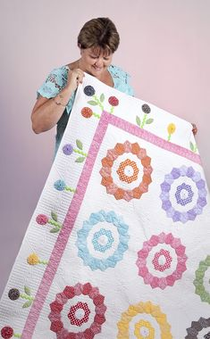 "lovely quilting - ""Sunshine, Lollipops & Rainbows"" Sue Daley Designs - http://www.busyfingerspatchwork.com/shop/product/sunshine-lollipops-rainbows/"