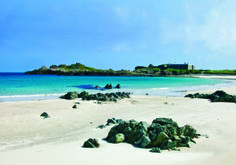 Lovely views across one of Alderney's warm beaches.