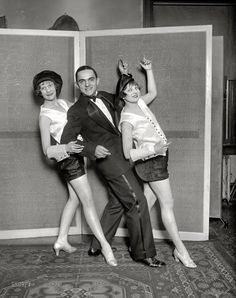 """Blanche was my Grandmother! Twenties Troupers: 1926 Washington, D., """"Margaret Little, Earl Columbus and Blanche Lehman. 1920s Photos, Vintage Photographs, Roaring Twenties, The Twenties, New York Broadway, Hollywood Story, 1920s Flapper, Vintage Glamour, Showgirls"""