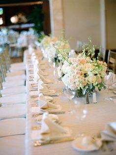 soft color wedding decor