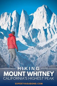 Hiking Mount Whitney: California's Highest Peak! The mountain has become one of the most popular hikes in the state — Here's everything you need to know before you visit! Visit California, California Travel, Northern California, Mount Whitney, Backpacking Trails, Hiking Tips, Camping Tips, Travel Usa, Travel Tips