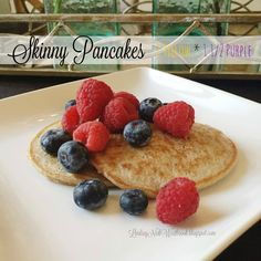 Clean Eating Skinny Pancake Recipe - Gluten Free - Kid Friendly - Easy Breakfast Recipe