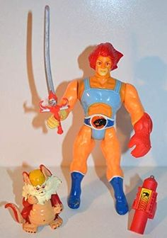 Telepictures Lion-O and Snarf Thundercats Action Figure Set Corp 1985 Snarf Thundercats, Thundercats Action Figures, Lion, Amazon, Fictional Characters, Leo, Riding Habit, Lions, Fantasy Characters