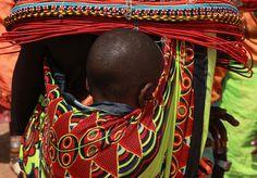 Africa | A sleeping Samburu baby. Kenya | © Ferdinand Reus