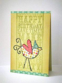 Donna Mikasa - Birthday Party Chick Card
