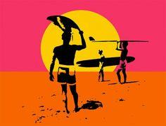 A cartela de cor do cartaz de
