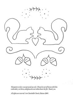 squirrel embroidery pattern not the squirrels but the acorns