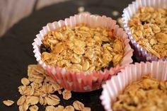 Fruehstuecksideen - I. Gesunde Apple Crumble Fruehstuecksmuffins