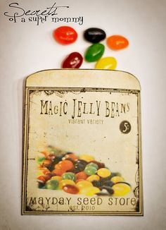 Magic Jelly Bean Seeds. Plant them in a pot and watch as the next day a lollipop has sprouted!