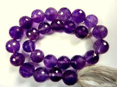 Amethyst faceted beads