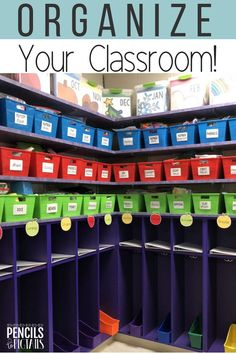 I'm sharing my favorite classroom organization ideas for the elementary teacher! Welcome to a backstage tour of my kindergarten classroom to see how I use bins from the Dollar Tree for effective storage. See how to turn Dollar Store decor into the classroom of your dreams! #classroomorganization #kindergarten #elementary