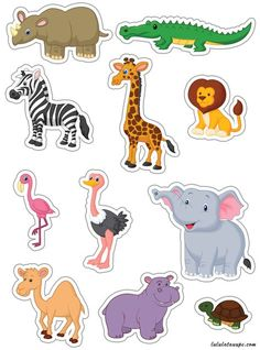 African Animals cutting - Lulu mole, free games for kids Animal Activities, Animal Crafts, Preschool Activities, The Zoo, Jungle Animals, Baby Animals, Cute Animals, Animals For Kids, Dear Zoo