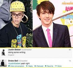 Drake Bell Disses Justin Bieber On Twitter