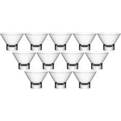 Jogo de Bowl para Sobremesa Ypsilon Vidro 220ml 12 Peças - Bormioli