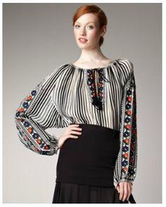 Romanian linen blouse