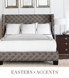 Corrado Upholstered Bed by Eastern Accents