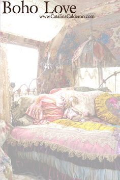 Bohemian Gypsy Style Bedroom You Will Love. Bohemian gypsy style bedroom are hype today. Bohemian word has actually been known for a long time. Initially, the term was used to describe non-tradi. Bohemian Bedrooms, Gypsy Bedroom, Bohemian Interior, Bohemian Design, Dream Bedroom, Bohemian Bedding, Hippie Bedding, Gypsy Wagon Interior, Fairytale Bedroom