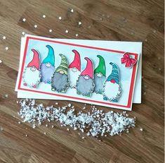 Christmas card Christmas elf card cute fun Christmas gnome North pole Santas helpers happy christmas card with love at Christmas Christmas Cards 2018, Stamped Christmas Cards, Xmas Cards, Handmade Christmas, Holiday Cards, Christmas Gnome, Christmas Crafts, Marianne Design, Winter Cards