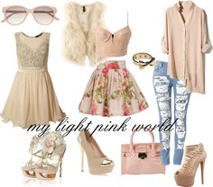 """""""my light pink world"""" by mariahchicka on Polyvore"""