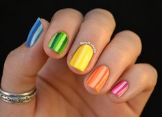 Nailed It!!! yellow black pulse white nail color paint polish red lines slashes art hand finger fashion hip blue green spotted stripes patterned black glitter gold silver orange purple tribal beige teal zip it zippers classy elegant casual formal pastels metallic neon multicolored sparkle shine