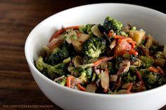 Chopped Broccoli Salad with Sweet Tahini Dressing