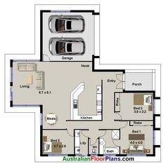 three bedroom house plans - Google Search