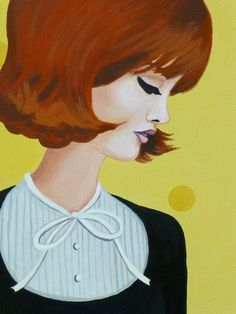 Jackie, an original painting of a stylish sixties woman. by MyMysteriousPast on Etsy https://www.etsy.com/listing/114424045/jackie-an-original-painting-of-a-stylish