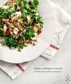 orzo & arugula salad with lemon thyme