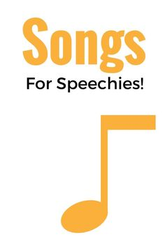 Ever need a list of songs you can use in speech? Here's your answer! This list is awesome!
