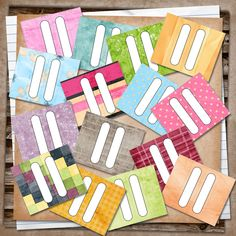 U printables by RebeccaB: Smash Page Tabs Free Printable- clearly this gal ROCKS
