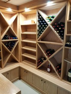 Solid wood wine cellar.  We specialize in kitchen cupboards, bedroom cupboards, solid woodworking, custom furniture and much more. For quotations please email us at khoutwerke@icon.co.za or visit our page and follow us on Pinterest. Bedroom Cupboards, Kitchen Cupboards, Wine Cellars, Bar Counter, Custom Furniture, Wine Rack, Quotations, Solid Wood, Woodworking