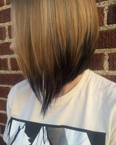 Blonde to Black Ombre for Angled Bob