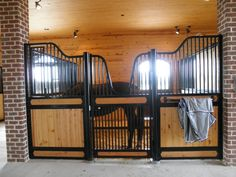 This horse is Home Sweet Home in this Classic Equine Equipment Horse Stall.