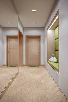 A Cozy Apartment in Kyiv with Soft Citrus Accents Hallway Designs, House Design, Mudroom Design, Hall Design, Apartment Bedroom Design, Cozy Apartment, Apartment Design, Apartment Entryway, Minimalist Interior Design