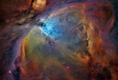 The Orion Nebula (cloud) lies about 1,350 light-years from earth