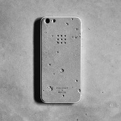 Luna iPhone skin - concrete skin modeled on the craters of the moon.. mmm...